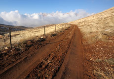 Road at Qornet el- Sawda, Lebanon Stock Images