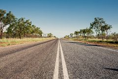 Road in Queensland, Australia Royalty Free Stock Photos