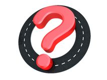 Road question Stock Photography