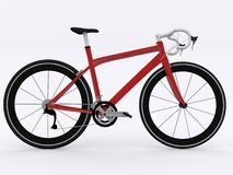Road racing bicycle. On white background Stock Photo