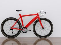 Road racing bicycle. On white background Royalty Free Stock Images
