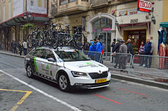 Road Racing Dimention Data Team Car And bikes Stock Image