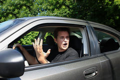 Road rage Stock Photography