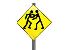 Road rage. Illustration of a road traffic sign signaling road rage Stock Images