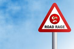 Road Rage. Warning road rage ahead. Concept illustration Stock Photos
