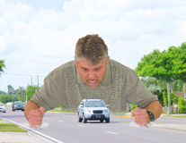 Road rage Royalty Free Stock Images