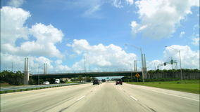 Road Rage Cameracar from International Drive to Downtown Orlando stock footage