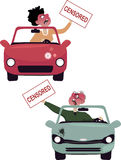 Road rage characters Stock Images