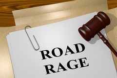ROAD RAGE concept. 3D illustration of ROAD RAGE title on legal document Stock Photo