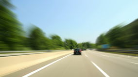 Road Rage Day Highway Camera Car Time Lapse Super  Royalty Free Stock Photography
