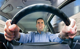 Road rage (male) Royalty Free Stock Images