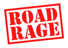 ROAD RAGE. Red Rubber Stamp over a white background Stock Images