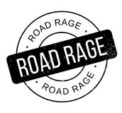Road Rage rubber stamp Stock Photography