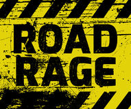 Road Rage sign. Yellow with stripes, road sign variation. Bright vivid sign with warning message Stock Images