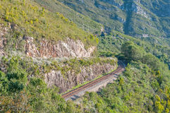 Road and railroad in the Montagu Pass Stock Photos