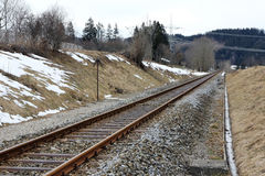 Road rails. For the rail transport in Germany Stock Photography