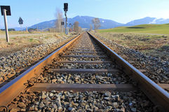 Road rails. For the railroad traffic in Germany Royalty Free Stock Photo