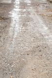 Road after rain. Photo of an abstract texture Stock Photo