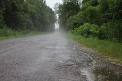Road after a rain Royalty Free Stock Photography