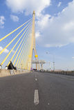 Road on the Rama VIII Bridge Royalty Free Stock Images