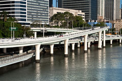 Road ramps over river Royalty Free Stock Photography