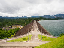 Road on Ratchaprapha Dam Surat Thani province,Thailand Royalty Free Stock Photos