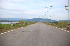 On road in Rayong Stock Photos