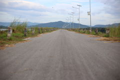 On road in Rayong Stock Image