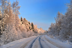 The road into the realm of the Snow Queen. Stock Photography