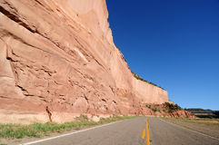 Road between Red and Blue Stock Photography