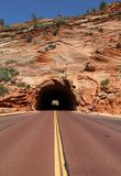 Road through Red Canyon in Dixie National Forest. Utah. USA royalty free stock image