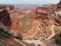 Road through red canyon Stock Image