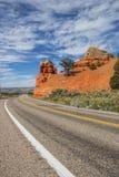 Road through Red Canyon in Utah, America Stock Photos