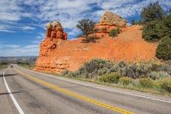 Road through Red Canyon in Utah, America Royalty Free Stock Image
