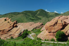 Road through Red Rocks Royalty Free Stock Images