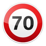 Road red sign on white background. Road traffic control.Lane usage. Stop and yield. Regulatory sign. Street. Speed limit. Road red sign on white background. Road royalty free illustration