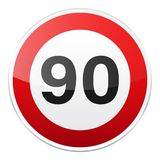 Road red sign on white background. Road traffic control.Lane usage. Stop and yield. Regulatory sign. Street. Speed limit. Road red sign on white background. Road stock illustration