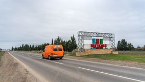 Road in the regions of Azerbaijan, city royalty free stock image
