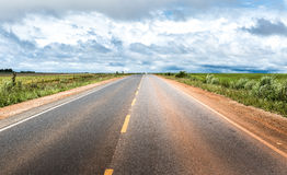Road on a remote area in Brazil Stock Photo