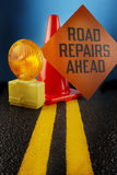 Road repair Royalty Free Stock Photos