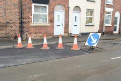 Road repair. The work of road repair in the city Stock Images