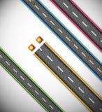Road repair stock illustration