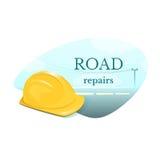 Road repair concept design vector illustration Stock Images