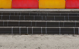 Road repair. Construction of new tram tracks. Stock Images