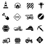 Road Repair Icons Black Stock Images