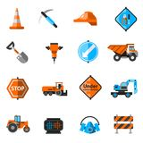 Road Repair Icons Royalty Free Stock Photography