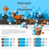 Road Repair Infographics Royalty Free Stock Photo