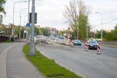 Road repair Royalty Free Stock Image