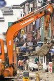 Road repair Stock Images