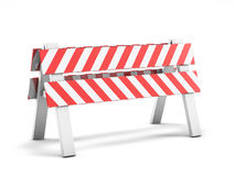 Road repair, under construction road sign. 3D Royalty Free Stock Images